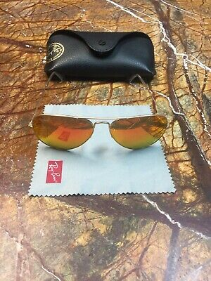 4c011a3aa2 100% Guaranteed Genuine Ray Ban Aviator RB3025 L0205 Sunglasses Green 58mm  Lens