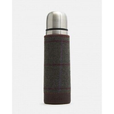 New! Joules Tweed Picnic Flask Hot or Cold - Tweed Sleeve