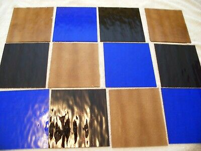 """Stained glass off cuts unused spectrum top quality glass 12 pcs @ 6"""" x 6"""""""