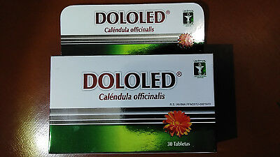 DOLOLED Caléndula Officinalis (30TABLETS) 150MG A Serving - Joint Pain Relief