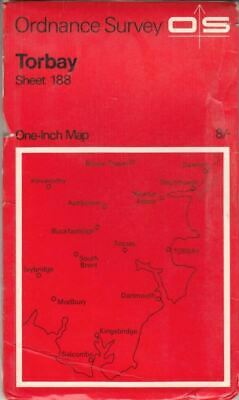 Ordnance Survey One-inch Map of Great Britain Sheet 188 Torbay :