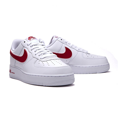 NIKE MEN'S AIR Force 1 07 3 Low leather White Red AO2423 102