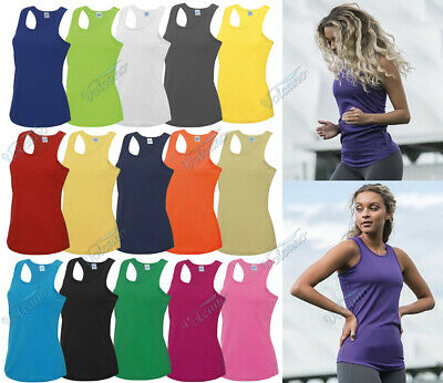 LADIES / GIRLS COOL SPORTS VEST, BREATHABLE FOR WORKOUTS, RUNNING, GYM. AWDis