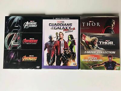 Marvel Lot THOR 3-Movie Collection Box Avengers 123 Guardians of the Galaxy DVD