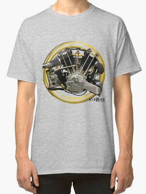 JAP VTwin Vintage Brough Engine Motorcycle Retro T Shirt  By IniShed Productions