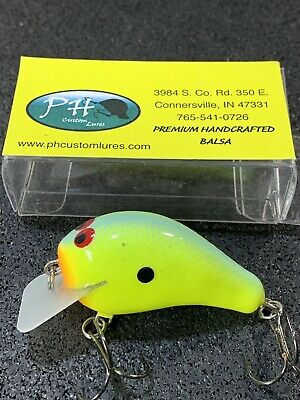 Dirty Craw Color Custom Balsa Squarebill Lil/' Hunter PH Custom Lures