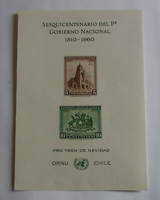 Chile 1960/61 Sheet -  Sesquicentennial of the 1st National Government - Airmail