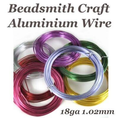 Beadsmith 18ga Aluminium Jewellery Florist Craft Wire 18 Gauge 1.02mm, 39ft coil