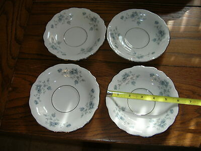 Lot of 4 Johann Haviland Blue Garland Saucers Only for tea/coffee cups