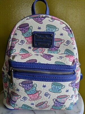 1ea8c664128 Disney Parks Loungefly Mini Backpack Teacups From Alice In Wonderland