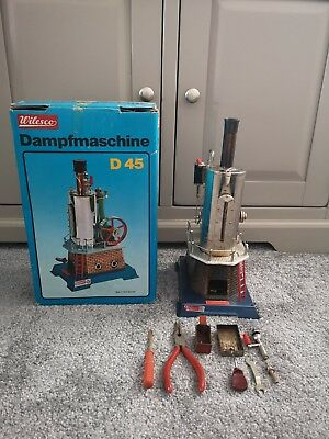 Vintage Wilesco Dampfmaschine D45 Steam Engine, rare collectable, West germany