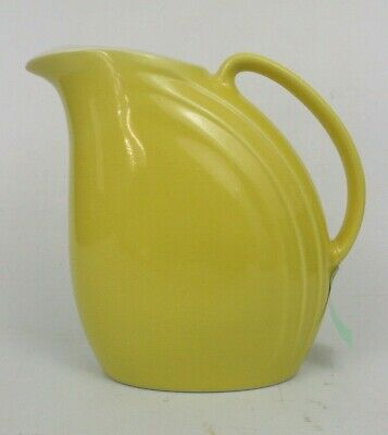 Hall USA Riveria Water/Ice Lip Pitcher Vintage Art Deco Sunny Yellow