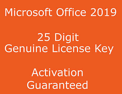 Genuine Office 2019 Professional Plus 32/64 Bit Key - Works Worldwide