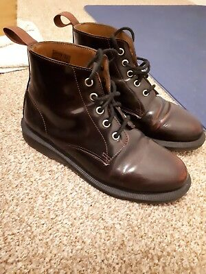 DR MARTENS EMMELINE Arcadia Dark Cherry Red Size 4 Lace Up