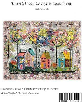 Birch Street Collage Laura Heine Fiberworks Art Quilt Pattern