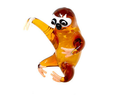 Collectible Blown Glass Creatures And Animals - Sloth - Ma098