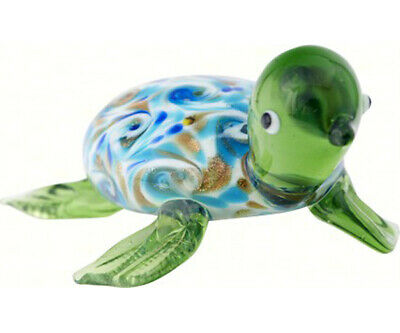 COLLECTIBLE BLOWN GLASS CREATURES AND ANIMALS -Venetian Sea Turtle  - MA083