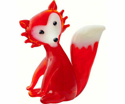 Collectible Blown Glass Creatures And Animals - Red Fox - Ma089