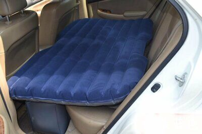 Blue Car Inflatable Bed Back Seat Air Mattress Camping Travel