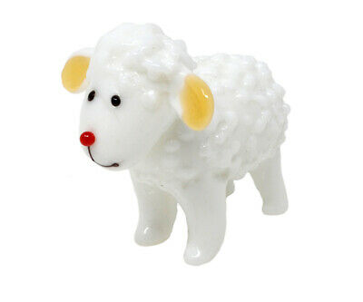 COLLECTIBLE BLOWN GLASS CREATURES AND ANIMALS - Sheep - MA108