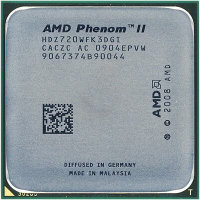AMD CPU Phenom II X3-720  2.8GHz Socket AM3  Black Edition HDZ720WFK3DGI