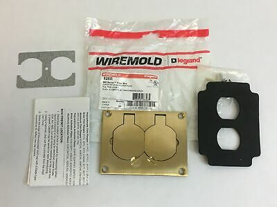 Legrand Wiremold Brass Duplex Receptacle Floor Box Cover Plate Model 828R