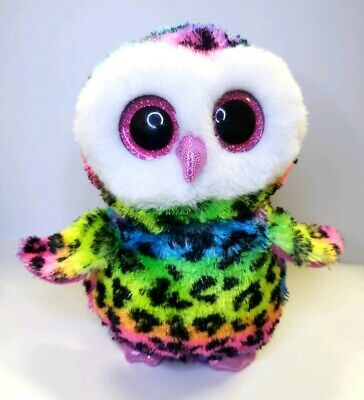 d93e714eebe Ty Beanie Boo Prototype Rainbow Cheetah Owl No Tag Rejected Sample Aria Grt  Gift