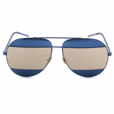 b25a5c674129c 🍀NEW CHRISTIAN DIOR SPLIT 1 Navy Blue Gold Mirrored Metal Aviator  Sunglasses