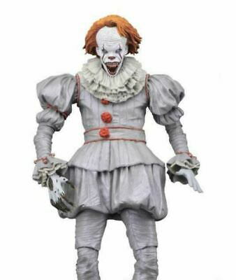"""PENNYWISE CLOWN - IT! 7"""" Bill Skarsgard Action Figure - NECA Ultimate Well House"""