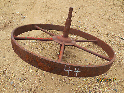 "N0--44---VINTAGE CAST  STEEL  WHEEL   BARROW  WHEEL  -15    "" --1  1/4   "" w"