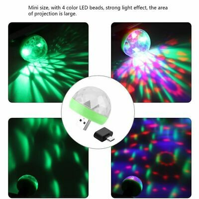 USB Mini Disco Light Ball Portable Led Karaoke KTV Party Decor Lamp DJ Stage