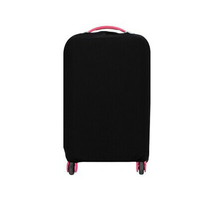 Travel Trolley Case Elastic Solid Luggage Suitcase Protector Cover Black M #ur