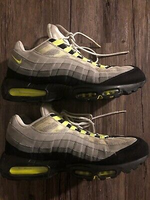 save off f6722 27857 Nike Air Max 95 Cool Grey Neon Volt Green Black Men s 609048-072 Sneakers 13