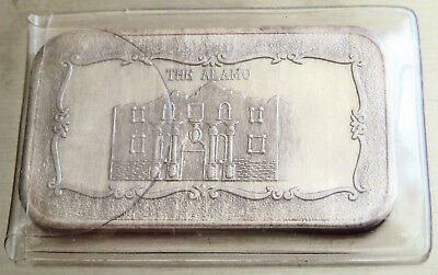 Mlm-39 Alamo Texas 1973 Art Bar Mother Lode Mint .999 Fine Silver 1 Troy Oz