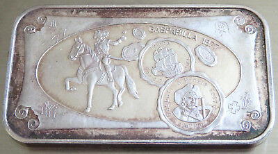 Normark Gasparilla Wwm-46B 1977 Art Bar Pirate .999 Fine Silver Toned 1 Troy Oz