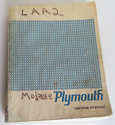 1966 Plymouth Original Service Manual Mojave Auto Dealership Step By Step Info!