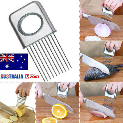 ONION HOLDER EASY CUTTING - Stainless Steel Food Holders with Prongs! NEW 2019