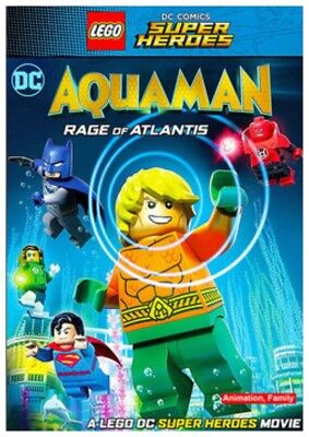 DC Super Heroes Aquaman Rage of Atlantis DVD + Blu-ray New Unwrapped