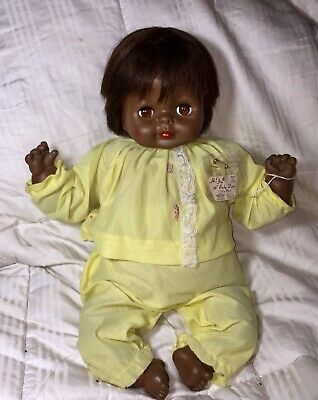 """dca3df15da Rare 1969 Vintage Black Vogue BABY DEAR doll 16"""" African American A 0 With"""