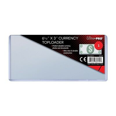 1 x Ultra PRO Regular Currency Toploader Bank Bill Toploaders Loader Loaders