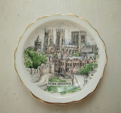 Vintage Bone China Argyle Butter pat  Pin dish small plate York Minster
