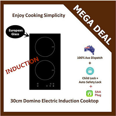 Special SALE! New EUROPEAN GLASS 30cm DOMINO ELECTRIC INDUCTION COOKTOP Cable