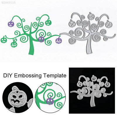 EA63 Cheap Cutting Dies Embossing Card DIY Carbon Steel Halloween Pumpkin Tree