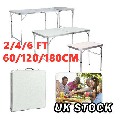 2/4/6FT Folding Table Catering Camping Desk Wedding Party Garden BBQ Display Set