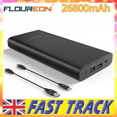 26800mAh PD60W Portable Power Bank USB Battery Charger For Universal Phone Black