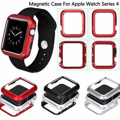 For Apple Watch iWatch Series 4 40/44mm Magnetic Metal Protective Case Cover NEW
