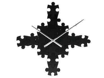 Karlsson Puzzle Piece Clock Black Analogue Battery Operated Wall Box32 Design