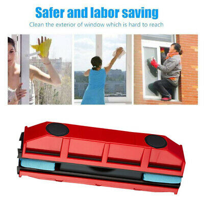 Magnetic Window-Cleaner for Glazed Window Double Sided Brushes Glass-Wiper Clean