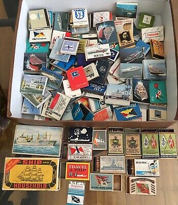 Collection Of 111 Shipping Line Matchbooks Matchboxes