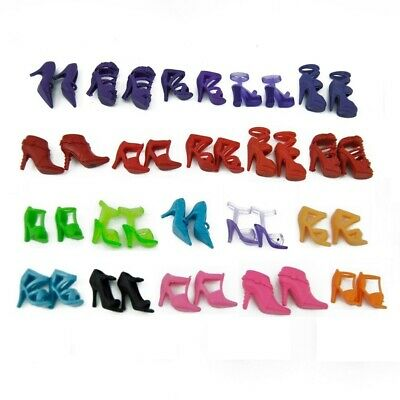 E-TING Lot 10 Beautiful Party Boots High Heels Shoes for Barbie Doll MIXED Style